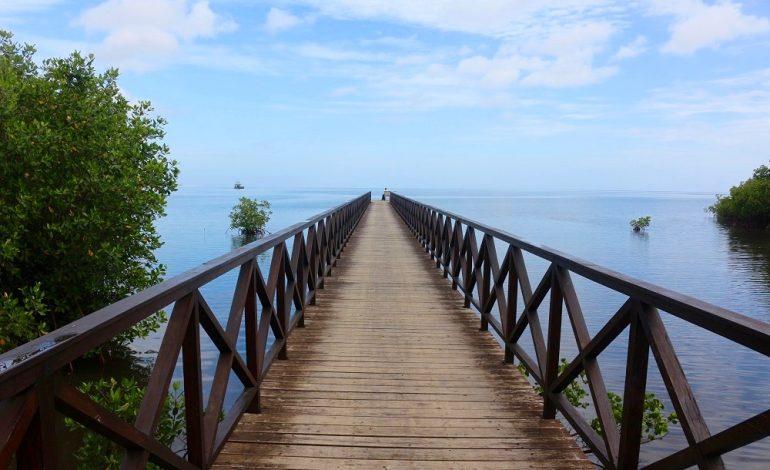Cuba est entouré de plusieurs cayos ; c'est-à-dire des bancs de sable blanc prisés par les touristes. Ici l'embarcadère pour le cayo Levisa qui est seulement accessible en bateau. Ces îlots sont réservés aux touristes. Les Cubains ne peuvent pas en profiter. Les seuls autorisés à s'y rendre sont ceux qui y travaillent. © Lucie Martin/Worldzine