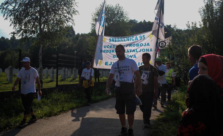 REPORTAGE. Marche en mémoire du massacre de Srebrenica pour lutter contre le négationnisme